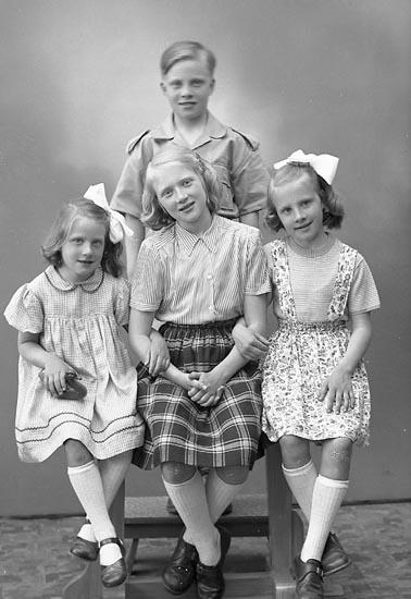 """Enligt fotografens journal nr 7 1944-1950: """"Strandberg, Fru Birgit Uppegård Här""""."""