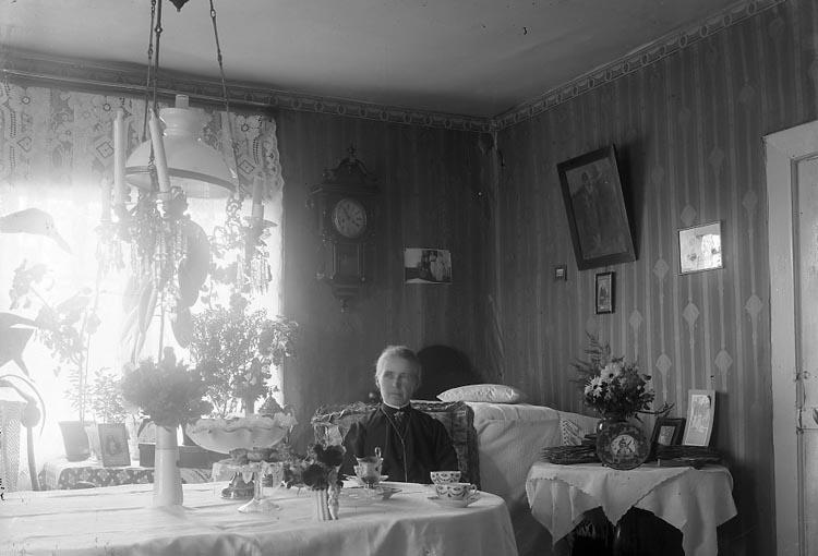 """Enligt fotografens journal nr 3 1916-1917: """"Forselius, Margret Fr. Ödsmål""""."""