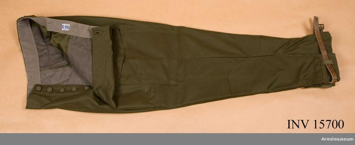 Grupp C I.  Ingår i uniform m/1959. Samhörande nr är AM.015699 - AM.015708.