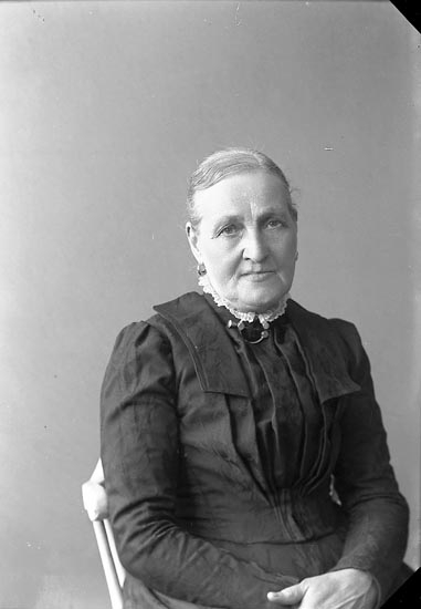 """Enligt fotografens journal nr 3 1916-1917: """"Johansson, Fru Amalia Vestergård Här""""."""