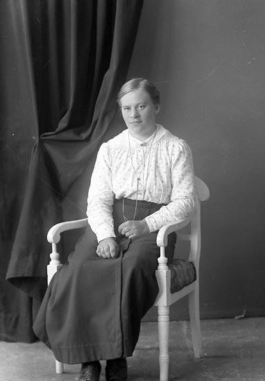 """Enligt fotografens journal nr 3 1916-1917: """"Johansson, Anna Groland Spekeröd""""."""