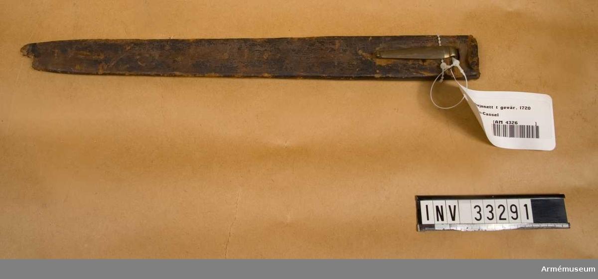 Grupp E II. 1720-tal. Anskaffat av Fredrik I. Se Krigskollegiums brev till faktor Eric Ereen av den 14.8. och 18.10. 1728.
