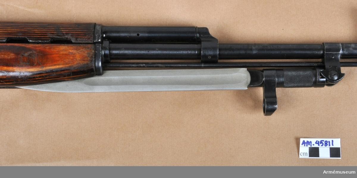 Grupp E IV. Bajonett till halvautomatiskt gevär m/1943, system Simonov, Ryssland.