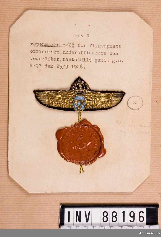 Vapenmärke m/1926