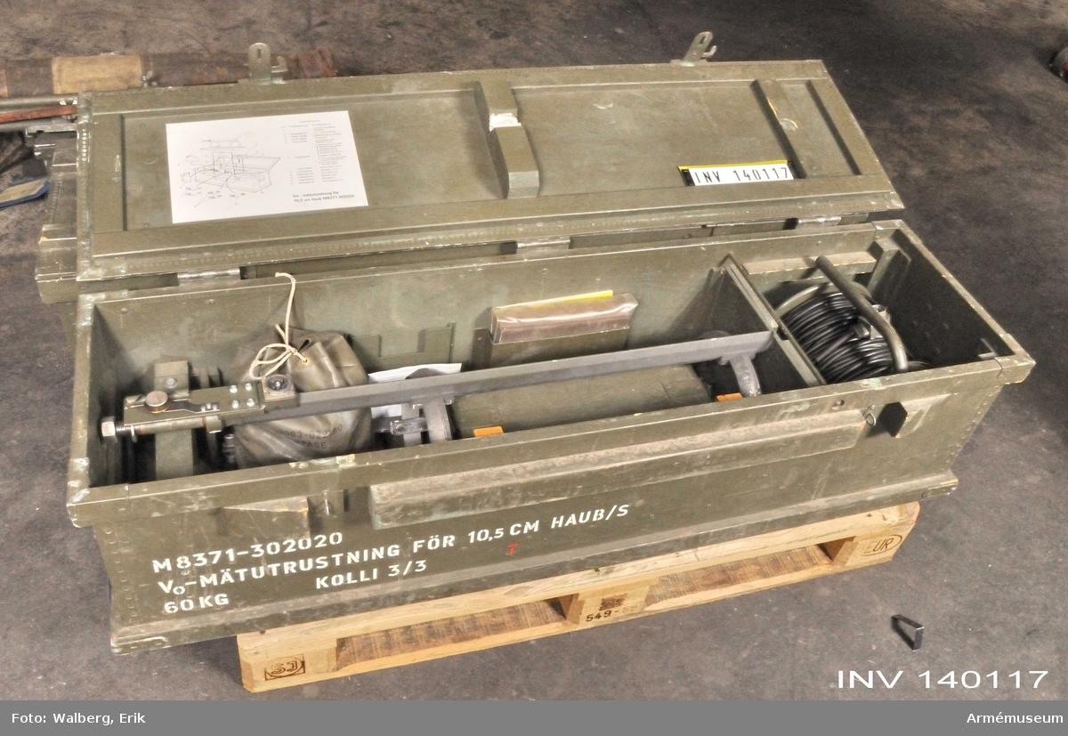 Vo-mätutrustning t 10,5 cm haubits m/1940 C, il