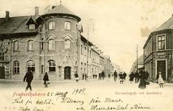 Notering på kortet: Danmarksgade ved Apothket.