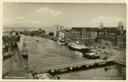 Notering på kortet: Malmö. Skeppsbron.