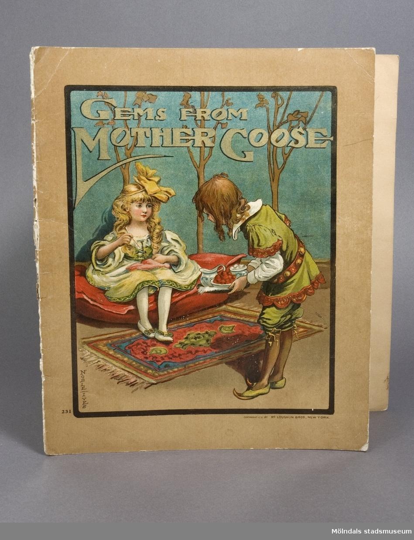 """Bilderbok """"Gems from Mother Goose"""". Illustrerad av Noble Jues."""