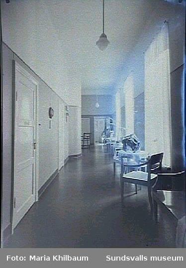 Interiör från Länssanatoriet. Korridor.