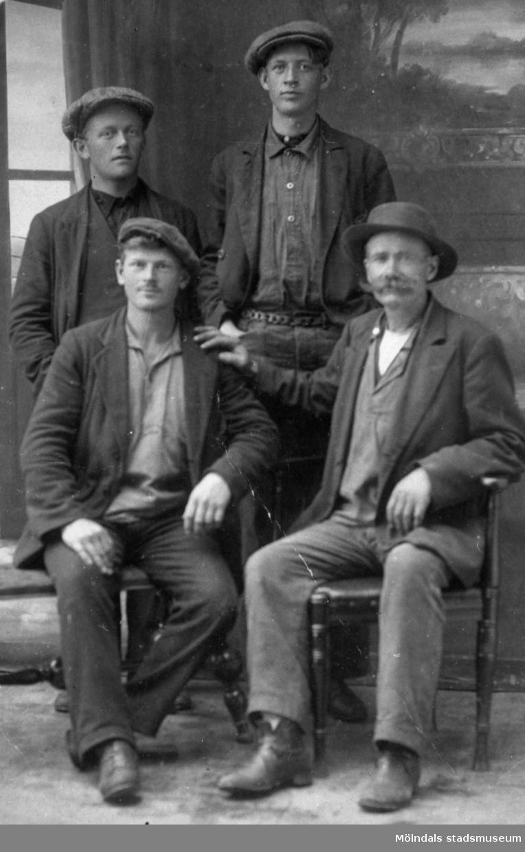 Brandberg, Oskar Palm, Holger Törner och John Västerberg. Mölndal, okänt årtal.