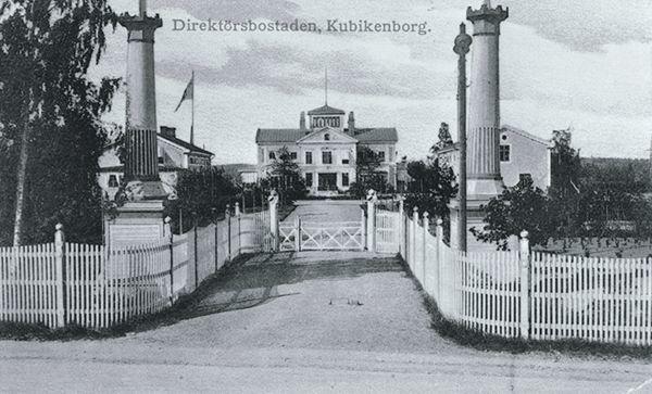 Kubikenborgs herrgård, direktörsbostad. Vykort.
