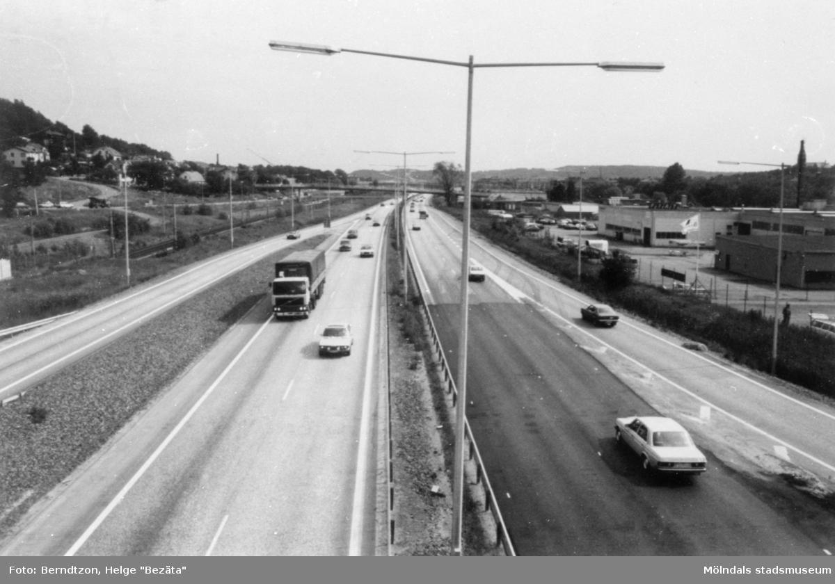 E 6:an. Ny motorväg mot Halland från Lackarebäck, 1980-tal.