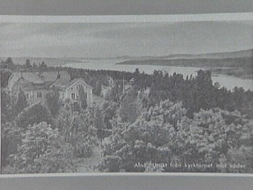 Alnö. Utsikt från kyrktornet  Vykort daterat 5/8 1948