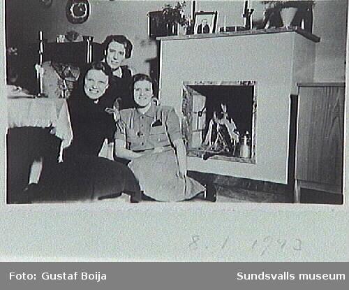 Maskinmästaren på Heffners EA Johnsonsdöttrar Gunnel,Inga och Anna-Lisa.