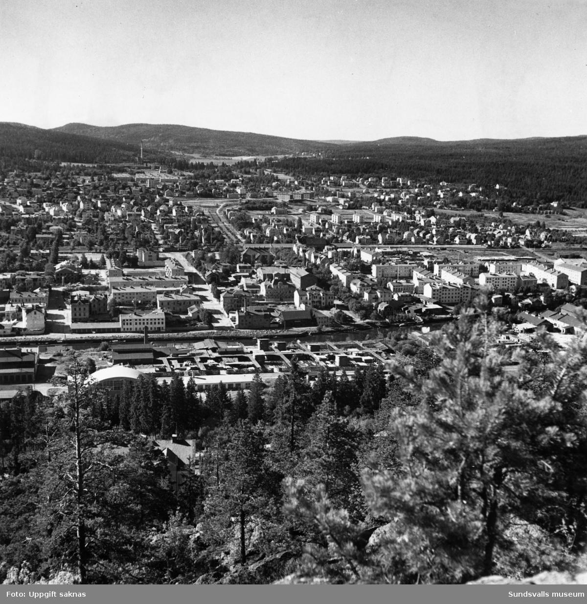 Vy över Norrmalm och Västermalm. Bilden tagen från Norra Berget.
