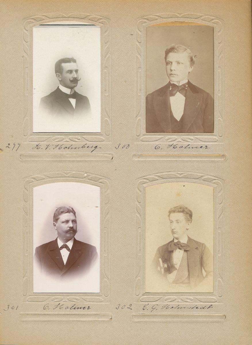 Porträtt av Carl Gustaf Holmstedt, postmästare i Ängelholm 1892-1907 och i Karlshamn 1907-1918.