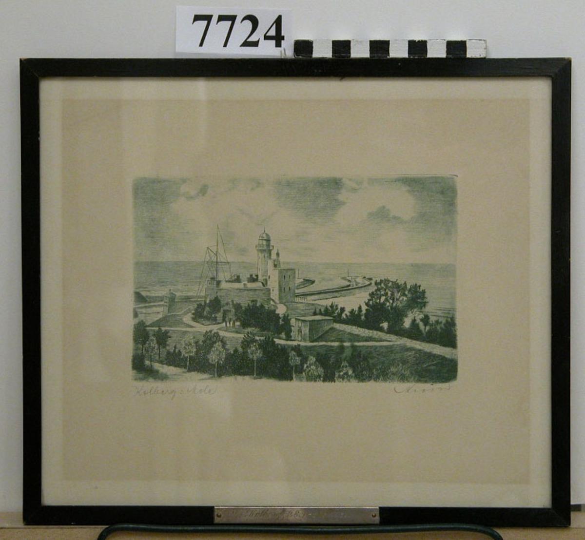Fotografi med följande märkning: Kolberg: Mole. På ramen plåt av silver med texten: Kolberg 28/7 -3/8 1931. På baksidan tysk text.Inom glas och ram.