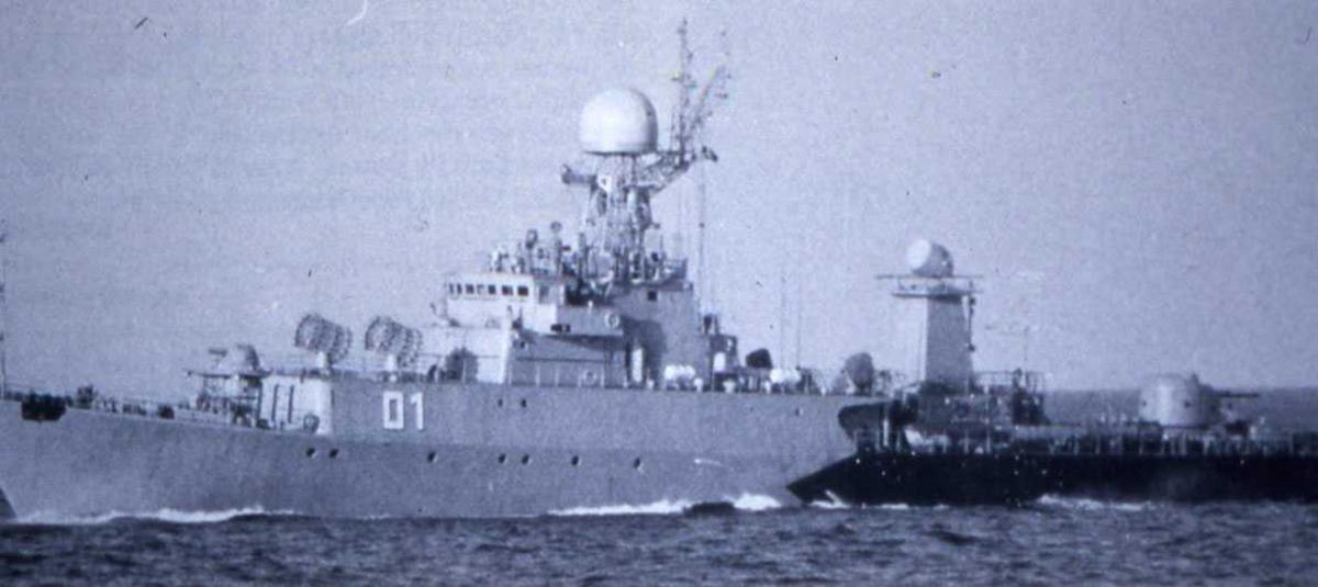 Russisk fartøy av Parchim II - klassen med nr. 01.