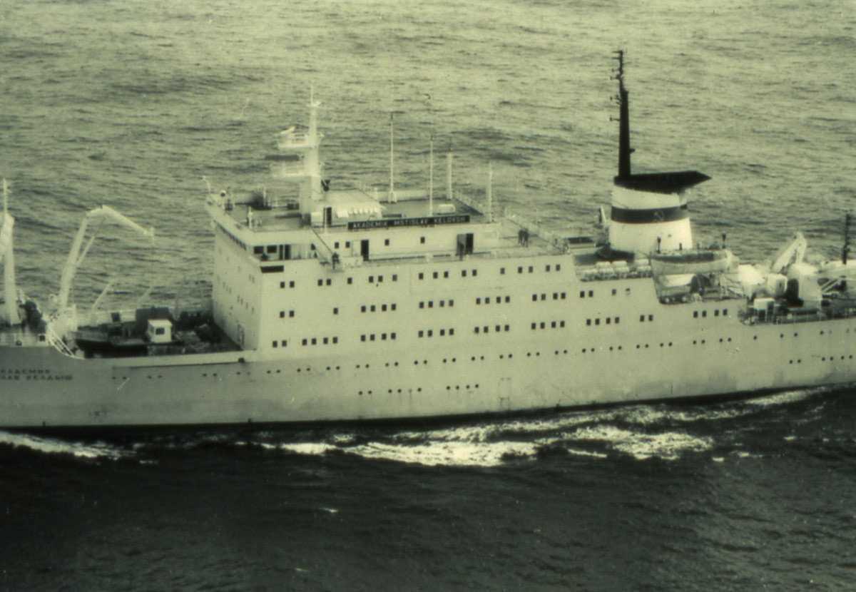 Russisk fartøy av Akademik Mstislav Keldysh - klassen som heter Akademik Mstislav Keldysh.