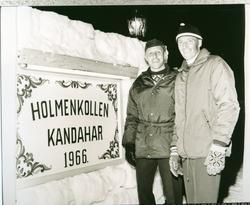 Frå venstre: Arild Smith Kielland og Olav Dokk. Smith Kiell