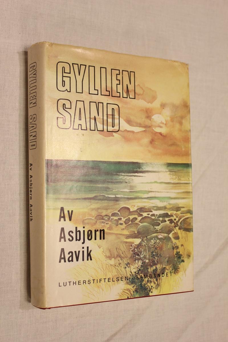 """Tittel """"GYLLEN SAND"""". Luther stiftelsens forlag 1976. Omslag: G.B Reistad & sønn. Oslo"""