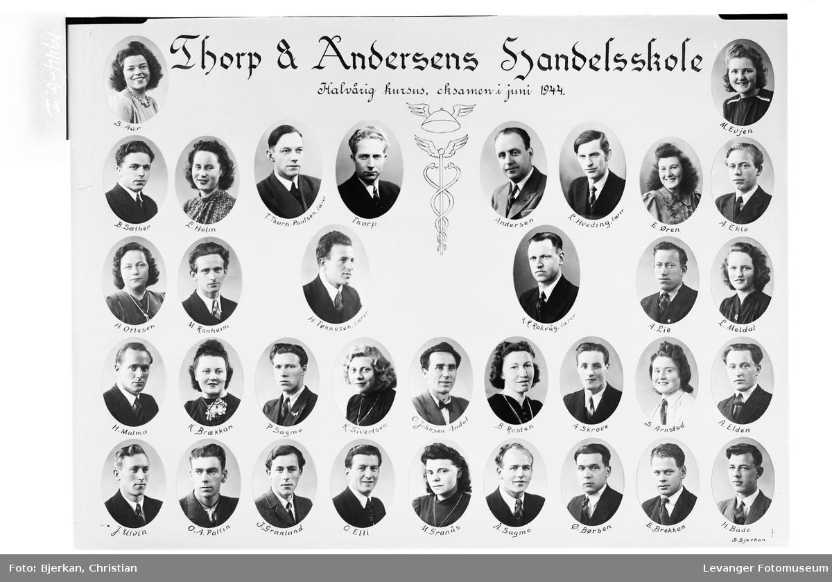 Thorp & Andersens Handelsskole, 1944