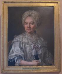 Porträtt av Anna Stjernfeldt. f. Falkert.