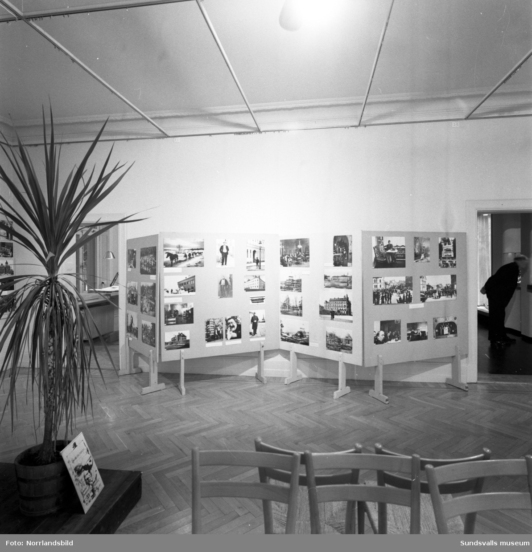 """Utställningen """"Gamla Sundsvall"""", på Sundsvalls museum."""