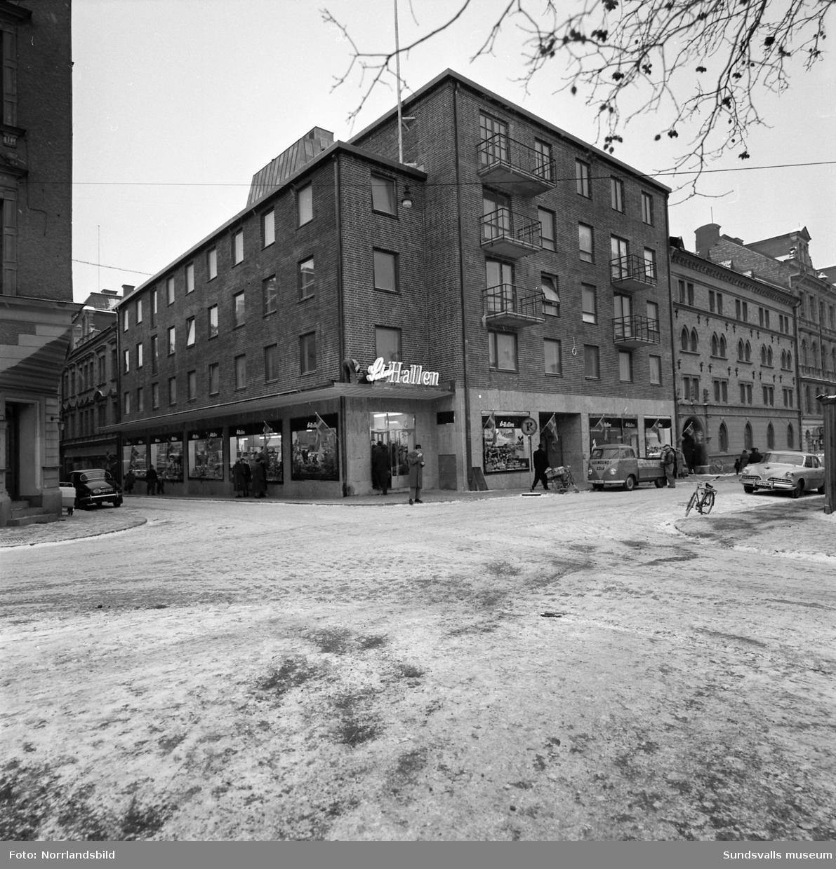 Nya Saluhallen vid Kyrkogatan-Thulegatan, exteriörbild av fastigheten.