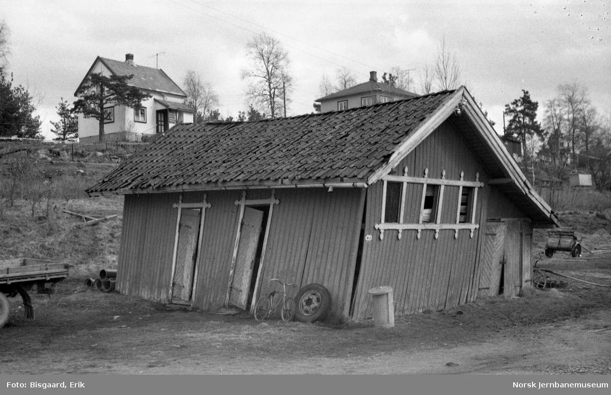 Uthus og privet på Hemnes stasjon
