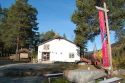 Utstillingsbygning på Hol Bygdemuseum Hagafoss