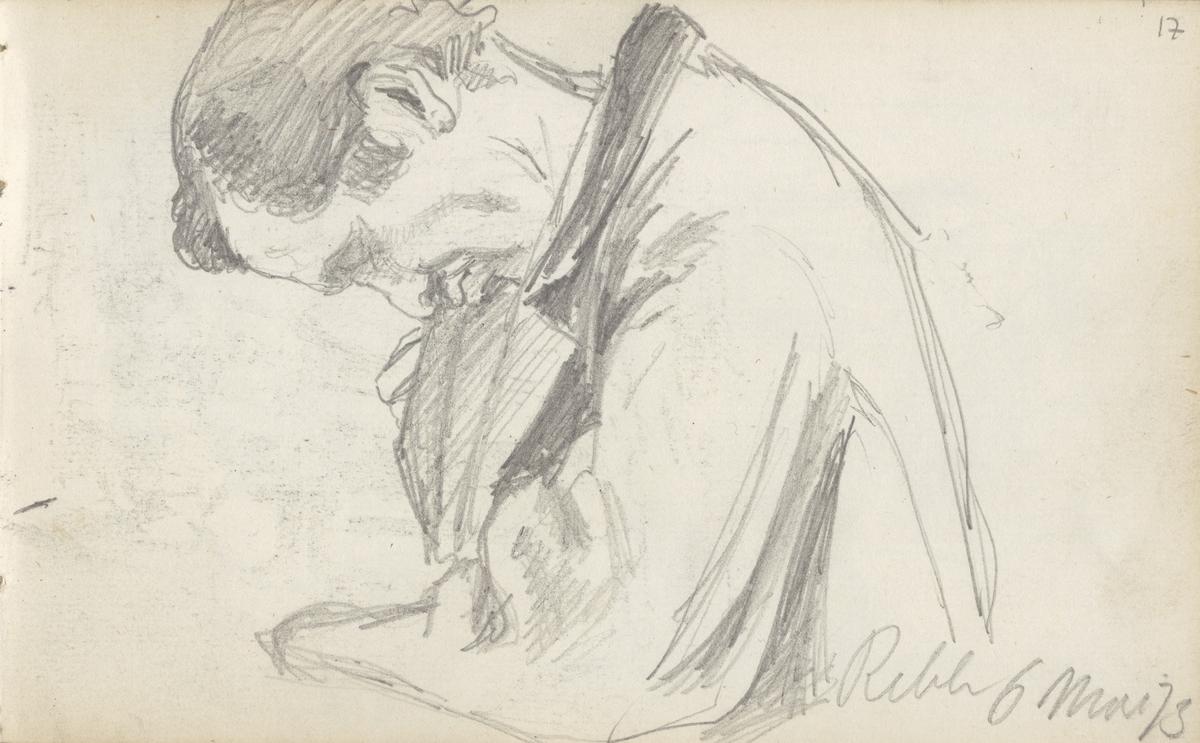 Sovende mann [Tegning]