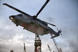 Helikopter av typen Sikorsky S-92 fra Bristow Helicopters er