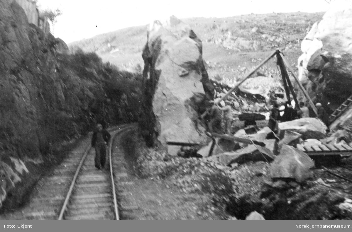 Anleggsarbeid ved Egersund stasjon