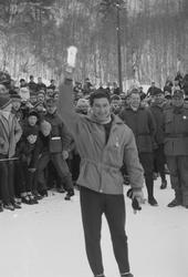 NM på ski i Meldal 1970.  Hopprenn Kløvsteinbakken.