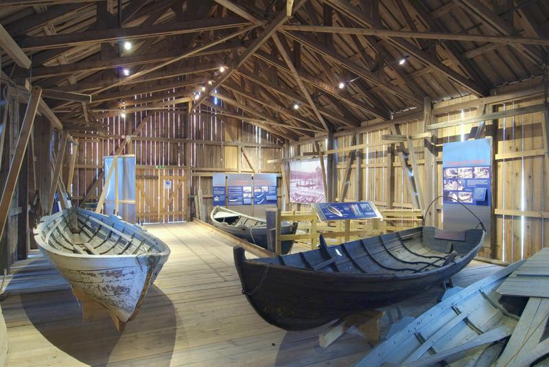 Trebåtutstillingen i Båthuset.