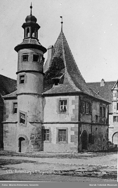 Rothenburg ob der Tauber: Hegereiterhaus. Bygning fra 1500-tallet av arkitekten Leonhard Weidmann.
