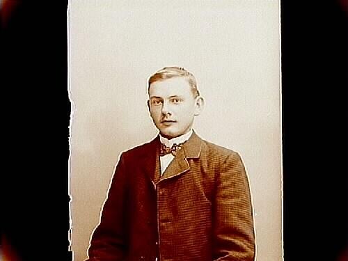 En ung man, bröstbild.Werner Larsson