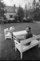 Spannarboda 6 augusti 1974. Elisabet och Kenny Krejby i Bac