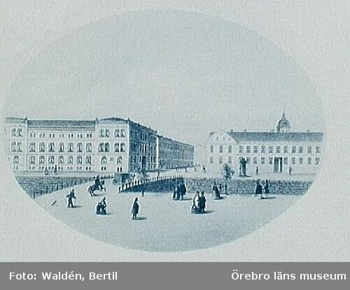 Örebro stad, Storgatan mot söder, sedd från Storbron (efter Thorsöe).
