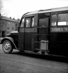 Buss med gasgenerator.