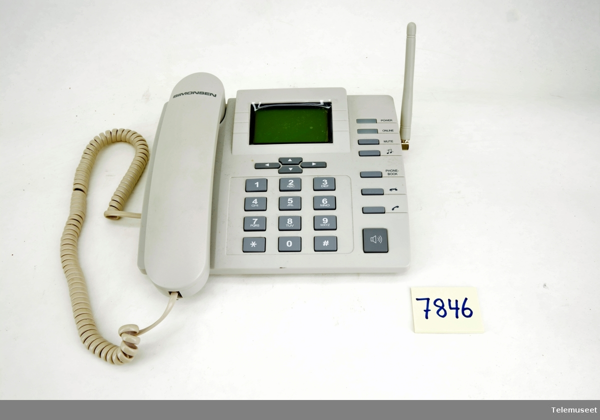 Telefonen er formet som en tradisjonell bord telefon GSM Desktop Phone