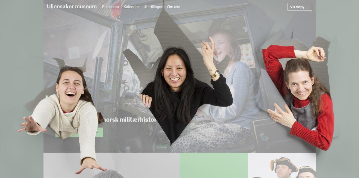 De ansatte på Ullensaker museum river seg gjennom nettsiden (Foto/Photo)
