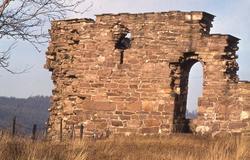 Kirkeruin ved den nordlige side af Maridalsvannet