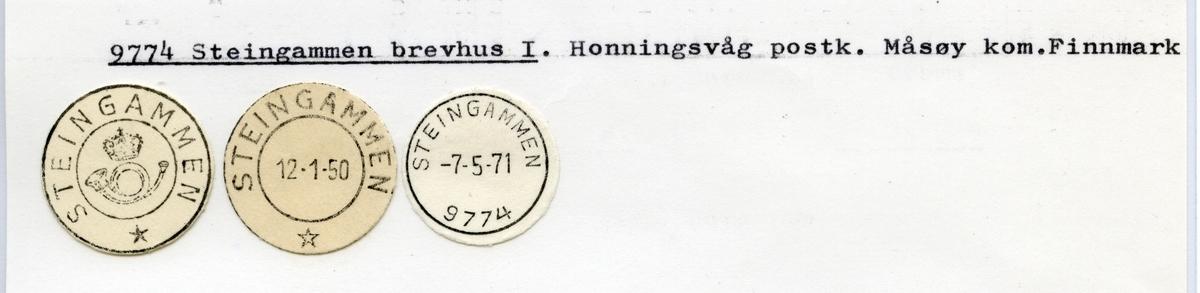 Stempelkatalog  9774 Steingammen, Måsøy kommune, Finnmark