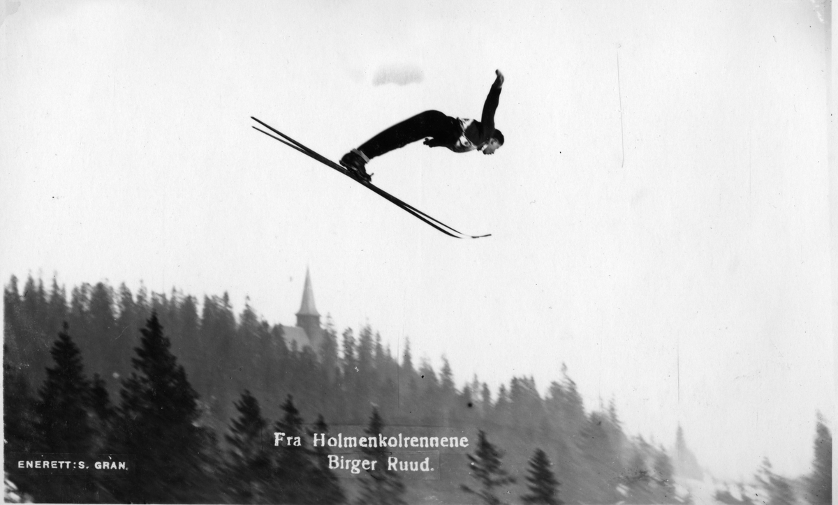 Kongsberg skier Birger Ruud at Holmenkollen 1930