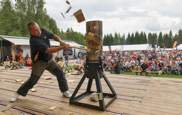 Stihl timbersport under De nordiske jakt- og fiskedager 2014. (Foto/Photo)