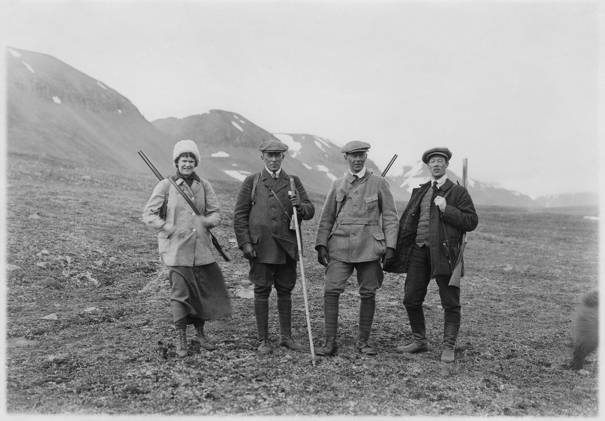 Sveagruvan på Spetsbergen. På jakt 1918.