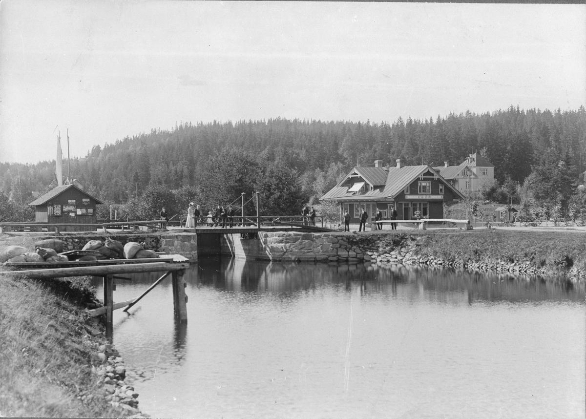 Bengtsfors järnvägsstation vid Dalslands Kanal.