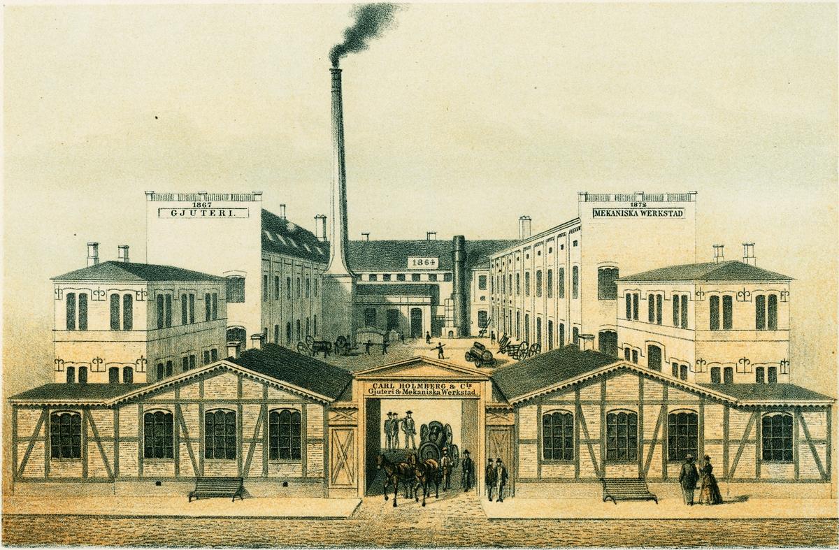 Carl Holmberg & Co Gjuteri & Mekaniska Werkstad i Lund 1873.